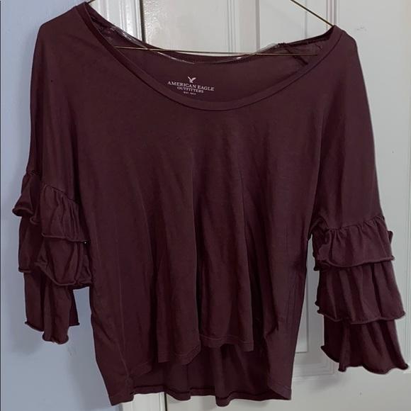American Eagle Outfitters Tops - Long Sleeve Ruffle Top